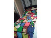 Super Mario single quilt cover set