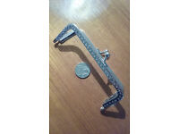 Sew-in Patterned Antique Silver Colourd Purse Frame -