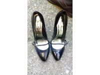 As New Womens Anne Michelle Black High Heel Shoes