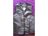 4xl Real leather mens waistcoat.