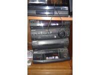 Sony hi fi 5 cd holder dolby surround sound 5 speakers