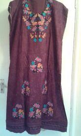 Asian / Indian/ Pakistani three piece semi stitched suit dress