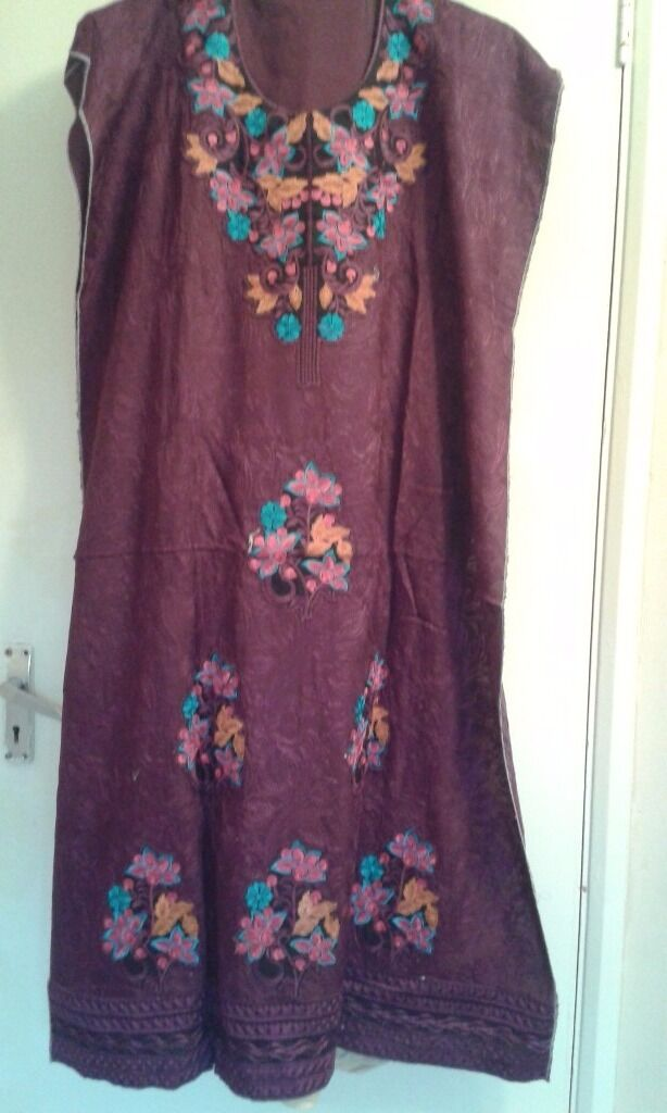 Asian / Indian/ Pakistani three piece semi stitched suit dress