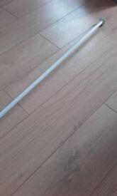 White metal curtain pole