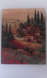 Wall canvas countryside ,poppies