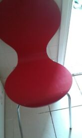 ONE RED ONE WHITE CHAIR FROM ARGOS