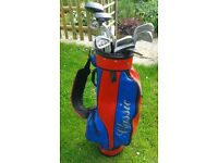 Full right handed golf set with bag