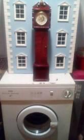 Vintage mini grandfather clock 23 inches tall