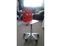 Childrens Desk Chair - JULES Ikea - Red - Adjustable height