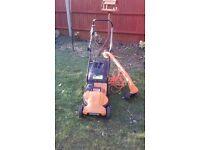 worx Lawnmower & strimmer set
