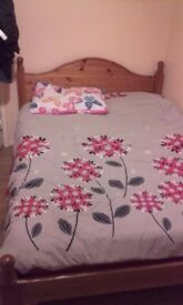 Double bed £60 pine wood in good order condition £60
