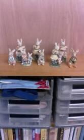 Porcelain rabbits collecton