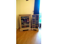 Lime wood cabinet and CD rack