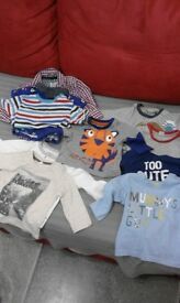 Bundle of boys tops- 0-3 months