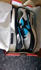 Nike air max 90s black silver jade