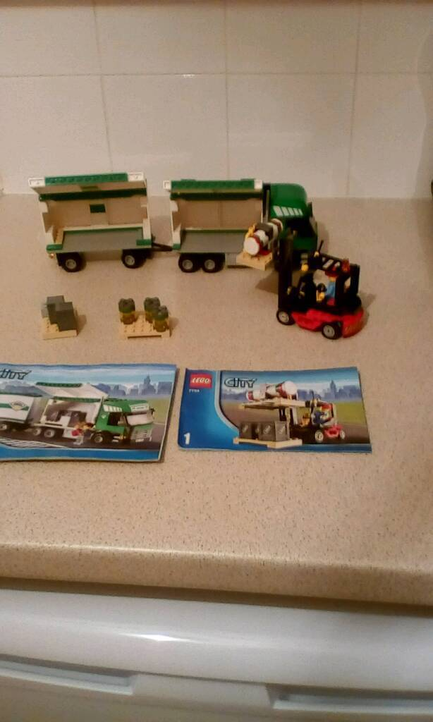 Lego City 7733 Cargo Truck Forklift In Dundee Gumtree