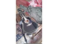 Fender guitar black with case good condition, nice action.