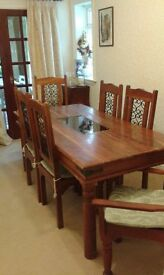 Rustic Dining Table and Chairs Solid wood