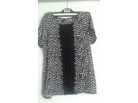 LADIES BLOUSE FRON NEXT-BLACK AND WHITE