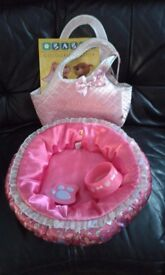 Build-a-bear pet bed and carrier