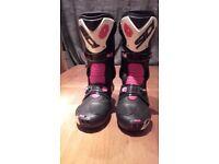 Motorbike Boots - Sidi Vortice - Black /Red Size 9