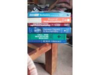 Various medical/science textbooks