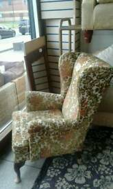 Vintage wing back chair superb condition no offers
