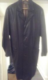 3/4 length nappa leather jacket.