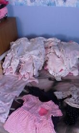 baby girl bundle of clothes new born 0/3 months