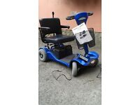 For Sale Sterling Sapphire 2 Mobility Scooter Used Twice Finished In Blue, In Very good Condition.
