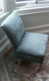 Occasional Chair in lovely blue upholstery