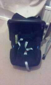 Baby car seat black
