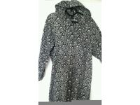 Warm Animal Print Onesie With Hood, M