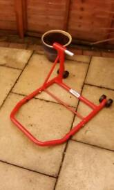 Motorcycle single sided paddock stand