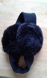 Black Ear Muffs (soft elastic band)