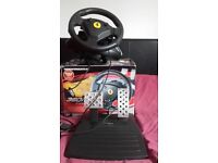 Racing Wheel and Pedals - with Ferrari logo