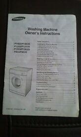 Samsung washing mashine, white, model P1253
