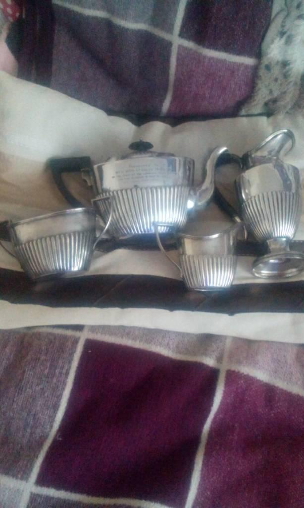4 piece teapot , jug, sugar bowl, and water pot 1926