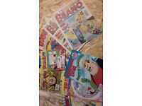 beano,dandy comics and annuals