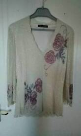 Lady's Jacque Vert beaded top