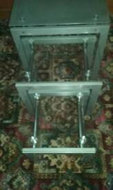 Set of three nest of coffee tables
