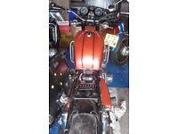 Lovely Suzuki GT750 2 stroke triple recent restoration on the road