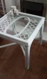 Bamboo coffee table.