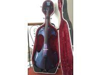 Bridge 'Draco' Blue/Purple Electric Cello