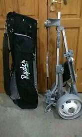 Golf bag and trolley set