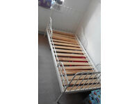 2 IKEA CHILDREN'S BEDS - White and Black