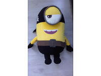 "Minions Pirate from illuminations entertainment soft toy , approx 24"" high"
