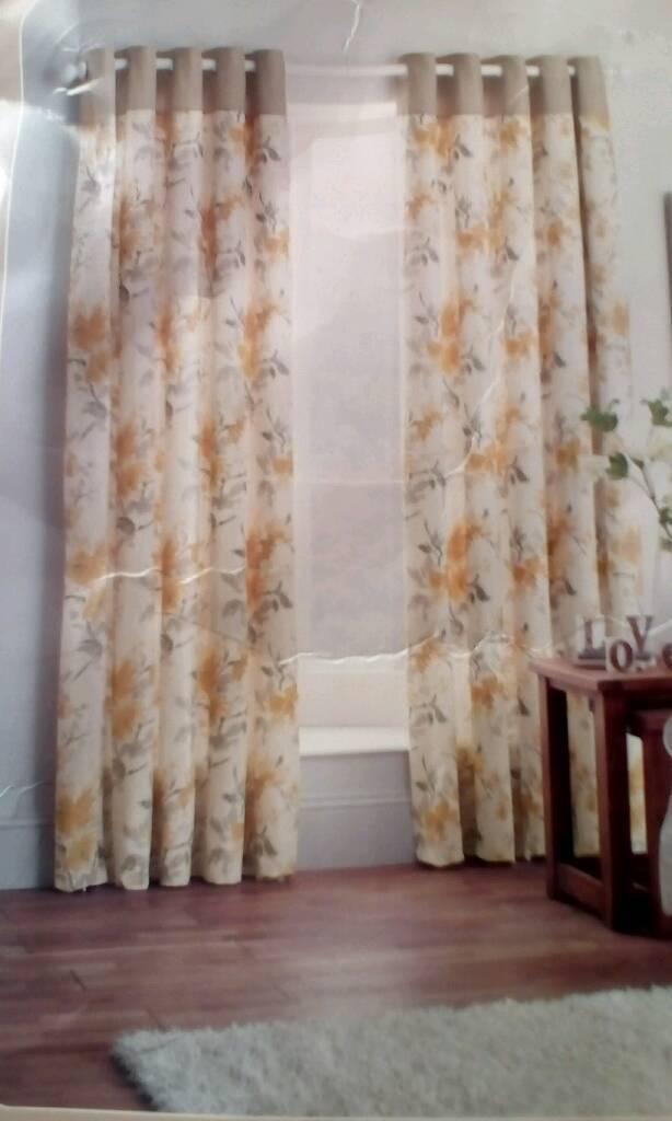 Curtains 168cm wide x229cm long
