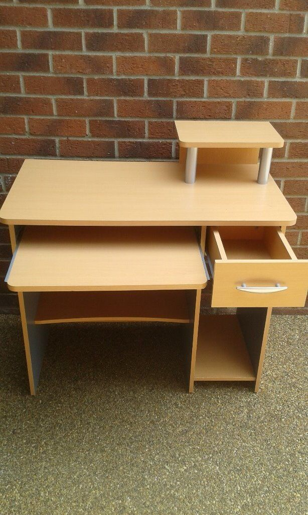 """Computer Deskin Stanway, EssexGumtree - Computer Desk 35 1/2"""" W x 20 """" D x 30"""" H Collection Only Pull out Keyboard shelf Printer Shelf Accessory Drawer Good Condition"""