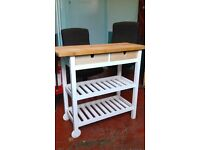 Nice furniture job lot - Shelving - side table trolley and two chairs - home - office